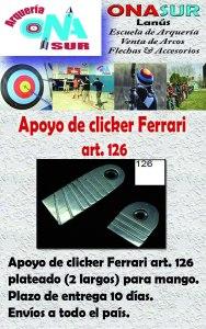 Aviso Apoyo de clicker art. 126 MERCADOLIBRE