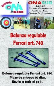 Aviso Balanza art 740 MERCADOLIBRE