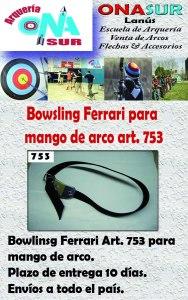 Aviso Bowsling art 753 para mango de arco MERCADOLIBRE