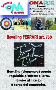 Aviso Bowsling dragonera cuerda para sujetar arco art 750 MERCADOLIBRE
