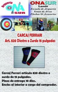 Aviso CARCAJ FERRARI ART 820 MERCADOLIBRE