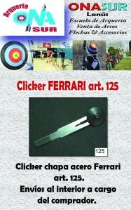 Aviso Clicker art 125 MERCADOLIBRE
