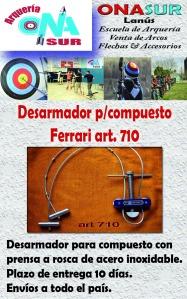 Aviso desarmador para compuesto art 710 MERCADOLIBRE