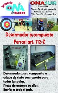 Aviso desarmador para compuesto art 712-Z MERCADOLIBRE
