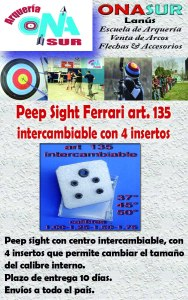 Aviso Peep sight art 135 intercambiable MERCADOLIBRE