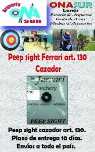Aviso Peep sight cazador art 130 MERCADOLIBRE