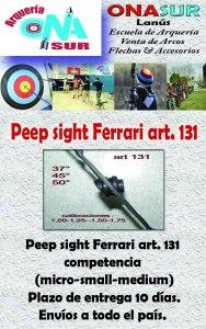 Aviso peep sight ferrar art 131 MERCADOLIBRE
