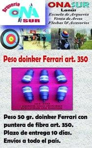 Aviso peso doinker art 350 MERCADOLIBRE