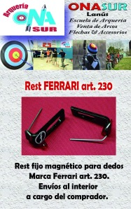 Aviso Rest Ferrari art 230 MERCADOLIBRE