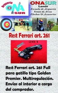 Aviso Rest ferrari Golden premier art 261