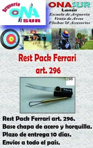 Aviso Rest pack art 296 MERCADOLIBRE