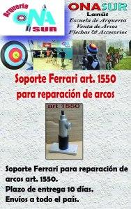 Aviso Soporte para reparacion de arcos art 1550 MERCADOLIBRE