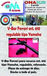 Aviso VBar 610 regulable reforzado MERCADOLIBRE